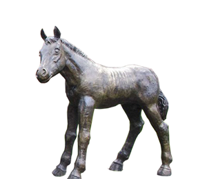 natural-size figure of colt